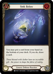 Sink Below (Blue) - Rainbow Foil - Unlimited Edition