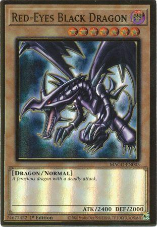 Red-Eyes Black Dragon - MAGO-EN003 - Premium Gold Rare - 1st Edition