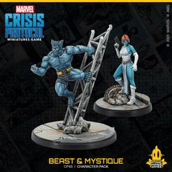 Marvel: Crisis Protocol - Beast & Mystique (CP 43)