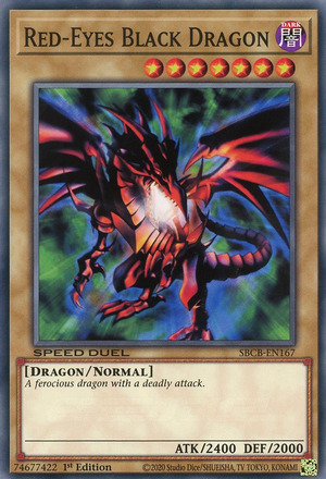 Red-Eyes Black Dragon - SBCB-EN167 - Common - 1st Edition