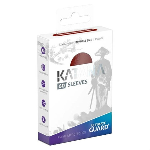 Ultimate Guard - Katana Japanese Size Card Sleeves (60ct) - Red