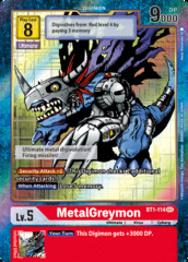 MetalGreymon - BT1-114 - SEC - Alternative Art