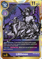 Lilithmon - BT3-091 - SR - Alternative Art