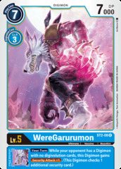 WereGarurumon - ST2-08 - R