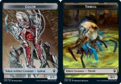 Golem Token // Thrull Token - Foil