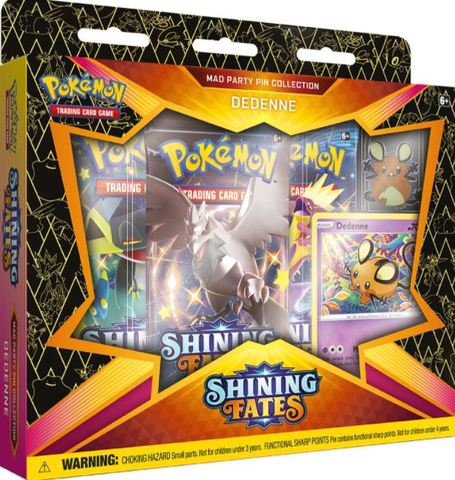 Shining Fates Mad Party Pin Collections - Dedenne LIMIT 3 PER CUSTOMER
