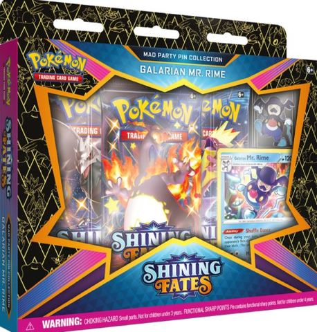 Shining Fates Mad Party Pin Collections - Galarian Mr. Rime (Ships by February 19th)