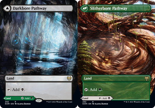 Darkbore Pathway // Slitherbore Pathway - Borderless