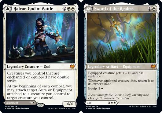 Halvar, God of Battle // Sword of the Realms - Foil