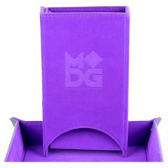 Metallic Dice Games Purple Fold Up Dice Tower