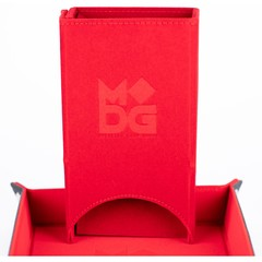 Metallic Dice Games Red Fold Up Dice Tower