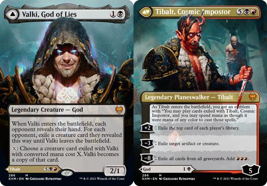 Valki, God of Lies // Tibalt, Cosmic Impostor - Foil - Borderless