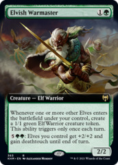 Elvish Warmaster - Foil - Extended Art