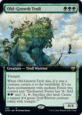 Old-Growth Troll - Foil - Extended Art