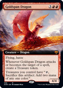 Goldspan Dragon - Foil - Extended Art