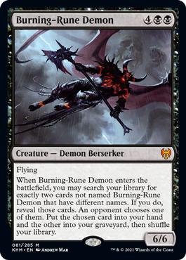 Burning-Rune Demon - Foil