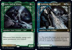 Jorn, God of Winter // Kaldring, the Rimestaff - Foil - Showcase