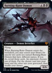 Burning-Rune Demon - Foil - Extended Art