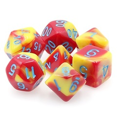 Poly 7 Dice Set: Honour Guard (Fusion Red/Yellow)