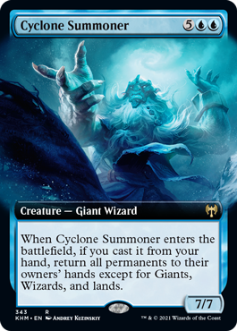 Cyclone Summoner - Foil - Extended Art