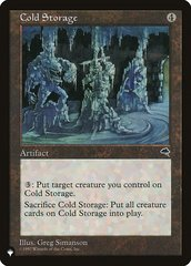 Cold Storage - The List