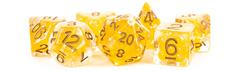 7-Die Set 16mm Resin Pearl:  Citrine with Copper Numbers