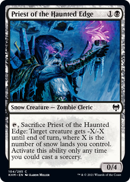 Priest of the Haunted Edge - Foil