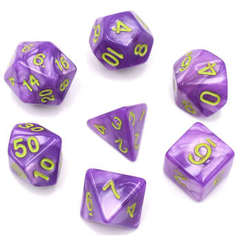 Poly 7 Dice Set: Permafrost (Light Blue Pearl Opaque)