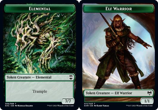 Black Metal Elf Token for Magic Male Elf Warrior Custom MtG Token the Gathering Kaldheim