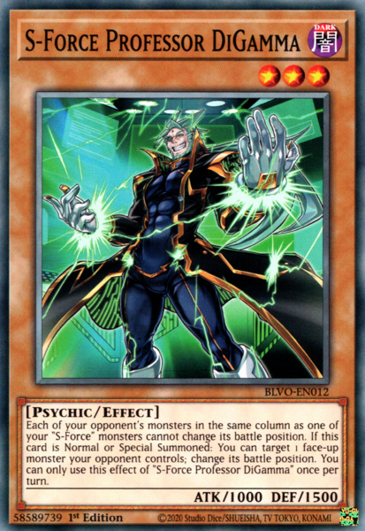 S-Force Professor DiGamma - BLVO-EN012 - Common - 1st Edition
