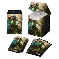 Ultra Pro: Kaldheim Combo 100+ Deck Box and 100ct sleeves featuring Lathril, Blade of the Elves