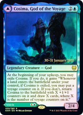 Cosima, God of the Voyage // The Omenkeel - Foil - Prerelease Promo