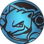 Blastoise Collectible Coin - Blue Mirror Holofoil (Generation 6)