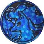 Alolan Ninetales Collectible Coin - Blue Bubbled Holofoil (Generation 7)