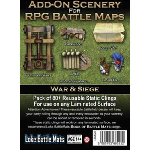 RPG Battle Mats Add-On Scenery: War & Siege