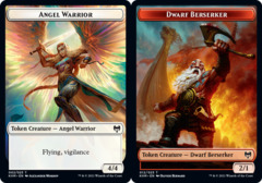 Angel Warrior Token // Dwarf Berserker Token - Foil