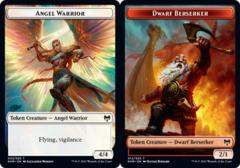 Angel Warrior Token // Dwarf Berserker Token - Foil