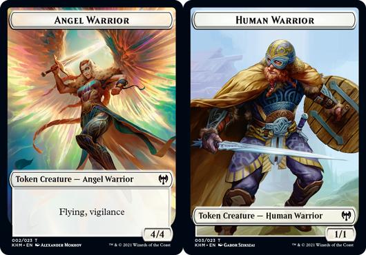 Angel Warrior Token // Human Warrior Token - Foil