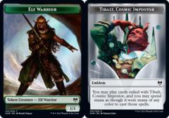 Elf Warrior Token // Emblem - Tibalt, Cosmic Impostor - Foil