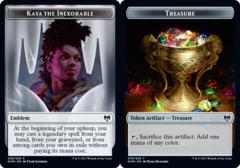 Emblem - Kaya the Inexorable (020) // Treasure Token (019) - Foil