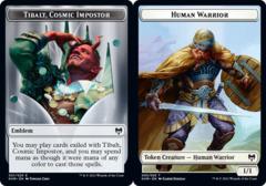 Emblem - Tibalt, Cosmic Impostor // Human Warrior Token - Foil