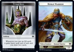 Emblem - Tyvar Kell // Human Warrior Token - Foil