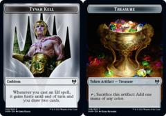Emblem - Tyvar Kell // Treasure Token - Foil