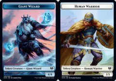 Giant Wizard // Human Warrior Token - Foil