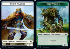 Human Warrior Token // Troll Warrior Token - Foil