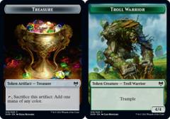 Treasure Token // Troll Warrior Token - Foil