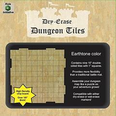 Dry Erase Dungeon Tiles - Combo Pack of Nine 10