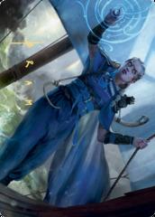 Inga Rune-Eyes Art Card - Gold-Stamped Signature