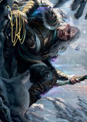 Jorn, God of Winter Art Card - Gold-Stamped Signature