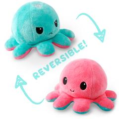 Reversible Octopus Plushie - Aqua/Light Pink